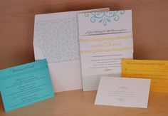 Custom letterpress wedding invitations, mitzvah invitations, note cards, party paper goods and more! - wedding love
