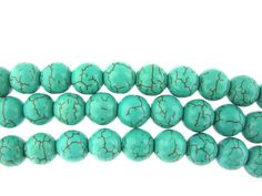 16 10mm Turquoise Howlite Round Beads by FancyGemsandFindings, $3.50