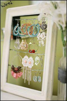 diy framed jewelry