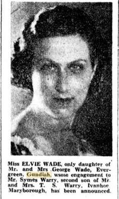 15 August 1935 Engagement of Elvie Wade to Symes Warry Evergreen, 15 August, Engagements, Daughter, Engagement, Daughters