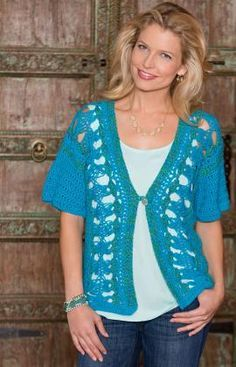 "Free pattern for ""Hairpin Lace Vest""!"