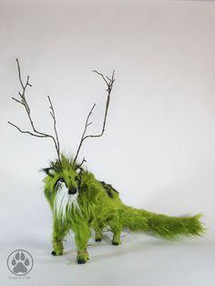 Dryad tree spirit caribou poseable artdoll OOAK by CreaturesofNat.deviantart.com on @DeviantArt