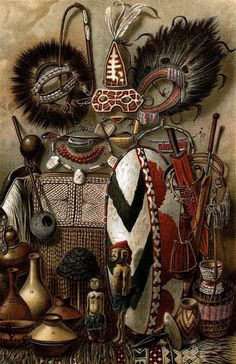 """African Artefacts"" | Bibliographisches Institut, Leipzig. 1904."