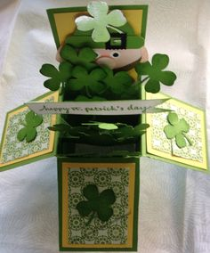 St. Patrick's Day card in a box.
