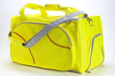 This softball duffel bag is created from actual softball leather. The softball material is durable, puncture resistant, and virtually spill proof! If you love softball, use the only duffel bag made from actual softball material! Perfect for any age, guys or girls, in any environment. In a car, bus, train, or on a plane - any way you travel...travel in style with our Softball duffel bag.