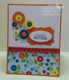Stampin' Up! Bright Blossoms by Debbie Henderson, Debbie's Designs.