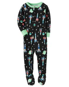 Baby Boy 1-Piece Snug Fit Cotton PJs In comfy cotton, this footless 1-piece takes him from nap time to tummy time in no time! Zip-up design makes getting dressed a breeze. Carter's cotton PJs are not flame resistant. But don't worry! They're designed with a snug and stretchy fit for safety and comfort.