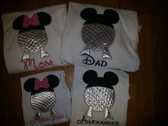 EPCOT Mission Space Ball Globe Family Disney World Shirts Mouse Ears Mickey Custom Applique by ThePolkaDotMouse on Etsy https://www.etsy.com/listing/219656668/epcot-mission-space-ball-globe-family