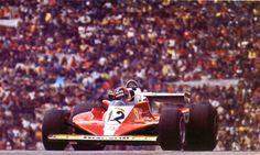 Gilles Vileneuve (Ferrari 312 T3) Grand Prix d'Autriche - Zeltweg 1978 - AUTOhebdo août 1978.