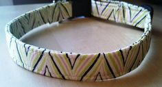 Zig Zag Stripe Dog Collar by HalasPaws on Etsy, $10.99