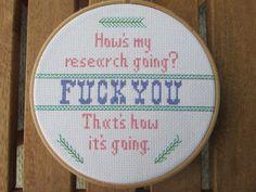 Mature Cross Stitch Pattern How's My by AlisonAnneStitching
