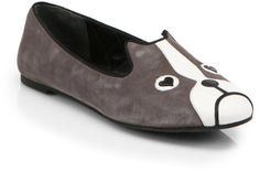 49d0b3d17e5 Marc By Marc Jacobs Friends Of Mine Dog Suede Smoking Slippers - Lyst  Loafer Flats