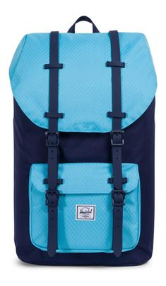 Bring all your jazz and look cute as a button with the all-new Herschel Little America Backpack Poly Peacoat/Bachelor Button. The two-tone dark and light blue pair exceptionally well with most outfits and offer a pop of colour. The Little America is Light In The Dark, Light Blue, Bachelor Buttons, Herschel Supply Co, Travel Aesthetic, School Backpacks, School Bags, Color Pop, Purses And Bags