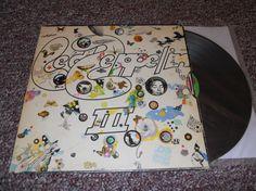 Led Zeppelin III 3 Wheel Die Cut Cover Vinyl by VinylRecordBarn, $24.99