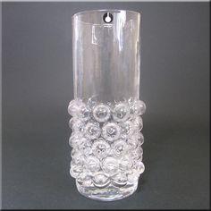 Pukeberg Swedish Textured Glass Vase - Labelled - £22.49 | Antique + Vintage Collectable Glass Shop