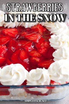 Angle Food Cake Dessert, Angel Food Cake Trifle, Strawberry Angel Food Cake, Angle Food Cake Recipes, Dessert Cake Recipes, Strawberry Desserts, Cookie Desserts, Dessert Ideas, Strawberries In The Snow Recipe