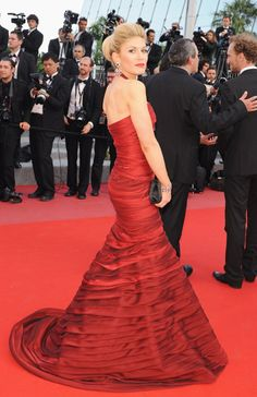 Hofit Golan in this red Jean Fares elegant design made the red carpet