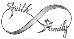 Faith and Family Infinity Symbol Tattoo