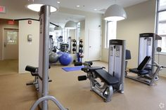 Monticello Garden Apartments Fitness Center - Falls Church, VA   @ecoreintl #ECOsurfaces Teaky Torch and Sand Castle   #spartansurfaces #RecycledRubber #Floorscore