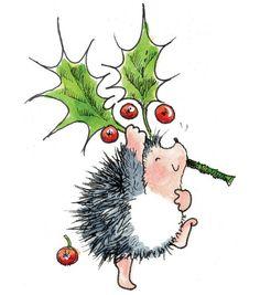 Holly Jolly Hedge Hog