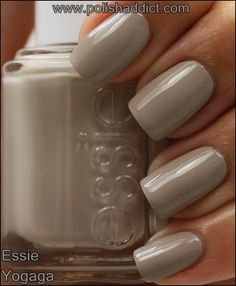 Essie Yogaga - I don't usually pin nail colors but I like this one (I have to wear polish or my nails peel in layers like an onion).