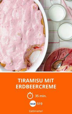 Tiramisu mit Erdbeercreme - smarter - Kalorien: 519 Kcal - Zeit: 35 Min. | eatsmarter.de