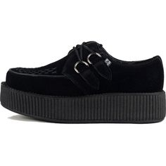 575a1c5cad5 Unisex T.U.K. Suede Viva Mondo Creepers Black (330 PEN) ❤ liked on Polyvore  featuring