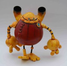 Rusty Robot  Steampunk Bauble Bot ONE DAY SALE by Spacecowsmith, £45.00