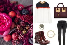 Outfit Collage Marsala