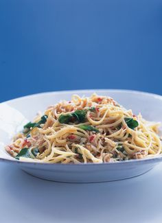 Linguine With Chilli, Crab and Watercress Fish Recipes, Seafood Recipes, Pasta Recipes, Cooking Recipes, Cooking Tips, Fettuccine Recipes, Drink Recipes, Dinner Recipes, Crab Linguine