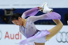 Mao Asada of Japan performs during the women's free Skating event of the Cup of China ISU Grand Prix of Figure Skating in Beijing on November 7, 2015. (Photo: WANG ZHAO, AFP/Getty Images) (4000×2670) http://www.usatoday.com/story/sports/olympics/2015/11/07/mao-asada-cup-of-china-win/75362060/