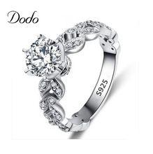 Produtos antigos anillo branco banhado a ouro do vintage jóias anéis para as mulheres anel de Casamento elegante CZ diamante bijoux bague femme 97(China (Mainland))