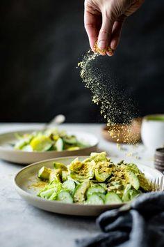 Summer Vegan Green Goddess Salad/ Movement in Food Phootography Diet Recipes, Vegan Recipes, Salmon Recipes, Potato Recipes, Cooker Recipes, Smoothie Recipes, Pasta Recipes, Crockpot Recipes, Healthy Snacks