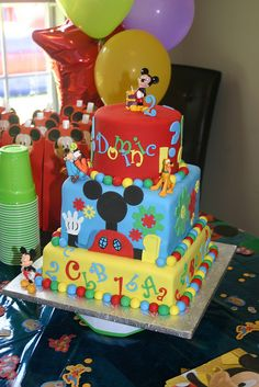 MIckey Mouse cake | Flickr - Photo Sharing! @Molly Evans  what about this one :)