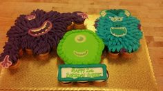 Monsters university cupcake cake