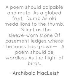 #poem #poetry #MacLeish