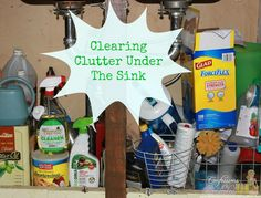 Clearing clutter under the sink