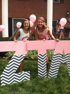 zeta tau alpha bid day letter idea bidday wooden greek letterswood