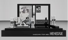 MEN EDGE Mascara for Men, Product Display by Vicky Chan, via Behance