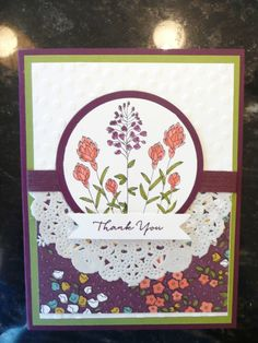 Flowering Fields lace or doily look great with this paper of mine!