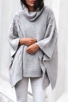 This long sleeve loose sweater will keep you cozy, warm, and fashionable at all times!