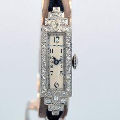 1933 Platinum and Diamond Longines Ladies Watch