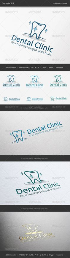 Dental Clinic  - Logo Design Template Vector #logotype Download it here: http://graphicriver.net/item/dental-clinic-logo/6511833?s_rank=840?ref=nexion