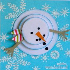 So cute and adorable! Christmas Card:  Cutest way to use circles I have seen in a long time!
