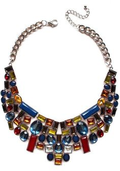 Luxe Mosaic Stone Statement Necklace