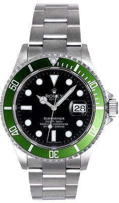 Rolex Submariner Green Anniversary Edition Men's Watch 16610LV