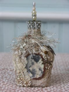 Shabby Cottage Studio ~Gail Schmidt ~ Artist: I'm Back! With Bottles!