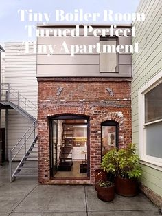 Tiny Boiler Room Turned Perfect, Tiny House   Apartment Therapy
