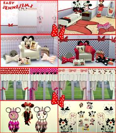 Sims 4 CC's - The Best: Set Minnie Mouse by JenniSims