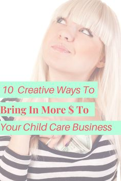 Most child care programs operate solely on the weekly tuition received from parents, but did you know that there are other ways to increase your revenue and bring in more money? Here are 10 ways to get your parents to pay you more money and LOVE doing it! Starting A Daycare, Child Care, Did You Know, Knowing You, Parents, Bring It On, Money, Children, Business